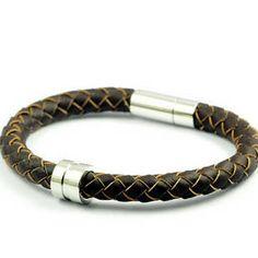 New Design Woven Leather Bracelet Gift for Boyfriend