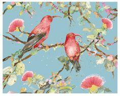 Rare Hawaiian birds - art by Sherri Reeve  - sreeve.com