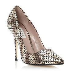 AMMO - Metallic Snake Print Pointed Toe Court Shoe