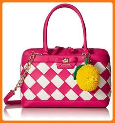 Betsey Johnson Forbidden Fruit Satchel, Fuchsia (*Partner Link)