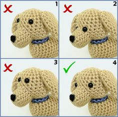 Positioning eyes for amigurumi by PlanetJune.