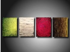 Large Abstract paintings.  Really like the combo of colors