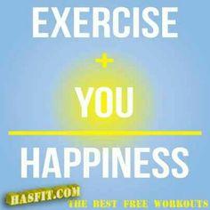 Excercise makes me happy :-)