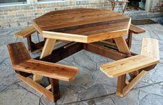 gartentisch selber bauen octagonal picnic table
