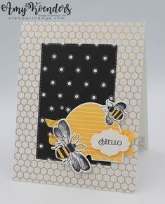 I used the fantastic new Honey Bee stamp set bundle from the upcoming Stampin' Up! January-June 2020 Mini Catalog to create my card to share with you today. Bee Images, Bee Cards, Scrapbooking, Stamping Up Cards, Bee Happy, Paper Cards, Greeting Cards Handmade, Homemade Cards, I Card