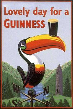 Lovely Day for a Guinness, John Gilroy, Guinness, Vintage Ads, Vintage Posters, Dorm Art, Pin Up, Wild Spirit, Irish Blessing, Irish Traditions, Illustrations