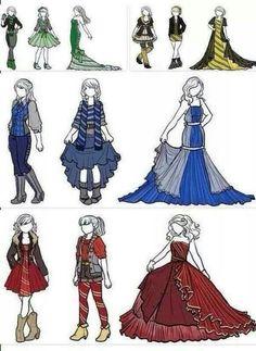 Hogwarts house outfits!