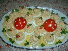 Rozi erdélyi,székely konyhája: Töltött tojás Pudding, Eggs, Cookies, Breakfast, Desserts, Food, Hungarian Recipes, Easy Meals, Cooking