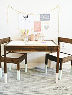 Jenn's two-step makeover completely transformed this Ikea table set into an expensive and custom-looking piece of furniture that perfectly suits her home's unique style.