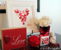 Valentine's Button Heart Plaque--So easy to make!