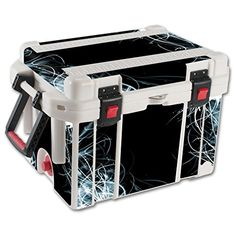 MightySkins Protective Vinyl Skin Decal for Pelican 45 qt Cooler wrap cover sticker skins Light Up * Click on the image for additional details.