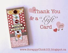 "Scrappy Chick Designs: Thank You & a ""Gift"" Card~ featuring the Happy Go Lucky collection by Fancypantsdesigns.com"