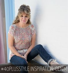 #40plusstyle inspiration: looking great in denim  - choose your favorite from 12 looks!   40plusstyle.com