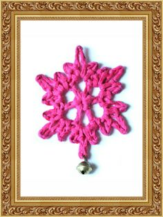 Simple Snowflake Tutorial Crochet Tutorial. I have some of these that I hang in my tree every year. I always get tons of compliments. Maybe by next year I can learn how to make them and give them out as gifts!