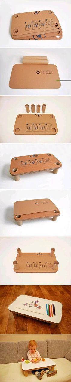 mini escritorio de carton