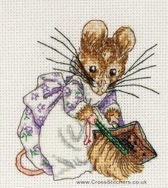 Hunca Munca - Beatrix Potter Cross Stitch Kit