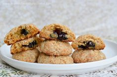 Protein Treats By Nicolette : Blueberry Stuffed Protein Sugar Cookies