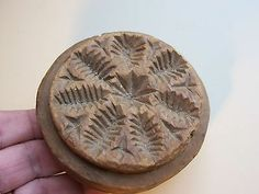 "Early hand carved Butter Stamp with ""Snowflake"" & Bird !!! Butter Mold. AAFA"