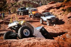 Taken by me at Easter Jeep safari 2011 in Moab, Utah. This was out on Pritchett Canyon's. Can't remember the name of the obstacle, but a lot of broken axles on this one.