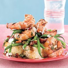Grilled Shrimp-and-Green Bean Salad - 49 Summer Farmers' Market Recipes - Southern Living