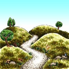 Hilly Lane Digi Stamp in Digital images