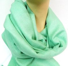 """P228 Light Green Color Hand Woven Pashmina Silk Shawl 26 X 72 Made in Nepal by bowlsofnepal. $35.99. Size: 26"""" x 72""""  Material: 70% Pashmina 30% Silk Color: P228 Light Green (as seen on above picture) with twisted  fringe  This  stunning pashmina/silk wrap is one of the hot items demanded through out the world,  which are made in the main source of present days hot fashionable accessories producing country 'Nepal' by traditional artisans on hand loom ..."""