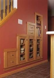 Image result for understairs cupboard with uneven walls