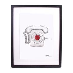 Innrammet - Grå Telefon Nostalgia, Phone, Drawings, Inspiration, Art, Biblical Inspiration, Telephone, Phones, Drawing