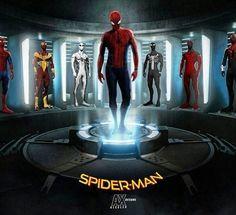 Spider-Man Many Suits Spiderman Suits, Spiderman Movie, Amazing Spiderman, Marvel Dc Comics, Marvel Heroes, Marvel Avengers, Star Trek, Chica Anime Manga, Marvel Characters