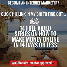 """Learn The Lucrative field of Internet Marketing! Free 14 day video series! Click the(Link in bio) @millionaire_mentor How to start making money online in 14 days flat!  Project Breakthrough is industry first true step-by-step most comprehensive video guided program specifically designed to help you: Earn a commission online (real money) - even if you have never made a dime online before Understand how to do it over again so you never have to """"depend"""" on anybody or anything. Take control of…"""