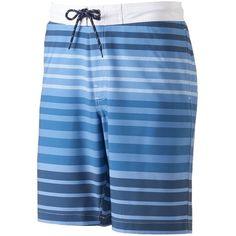 Men's SONOMA Goods for Life™ Striped Swim Trunks ($28) ❤ liked on Polyvore featuring men's fashion, men's clothing, men's swimwear, blue, mens swimshorts, mens mesh swimwear, mens clothing, mens swim trunks and men's apparel