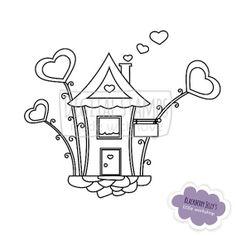 Digital Stamp Home sweet home by BlackberryJellys on Etsy, $3.00