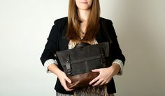 """ready to ship - FIELD MESSENGER 1909 - iPad/11"""" laptop size with back zip - small waxed canvas messenger bag - select a color"""