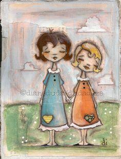 Cereal Box Art A Childhood Shared Original Artwork by Diane Duda ©dianeduda/dudadaze