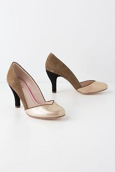 Metallic Hayden Pumps  #anthropologie