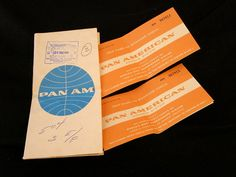 Pan Am Tickets & Jacket Airline Collectible Paper by heritagetrade, $6.95