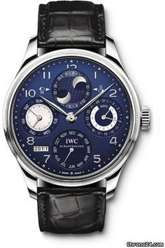 Discover a large selection of IWC Portuguese Perpetual Calendar watches on - the worldwide marketplace for luxury watches. Compare all IWC Portuguese Perpetual Calendar watches ✓ Buy safely & securely ✓ Stylish Watches, Luxury Watches For Men, Cool Watches, Dream Watches, Casual Watches, Patek Philippe, International Watch Company, Moonphase Watch, Timex Watches