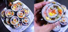 김밥의 유래는 언제부터 시작되었을까? 크게 두가지의 견해로 나뉘어지고 있습니다. 첫째로초밥이 유명한 일본의 김초밥에서 유래되었다는 견해가 있으며... 둘째로 정월대보름에 찰밥을 김에 싸서 먹는데서 유.. Appetisers, Korean Food, Food Items, Sushi, Diy And Crafts, Food And Drink, Cooking Recipes, Asian, Health