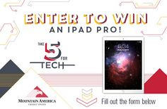 10/25/15 #Win an #Apple iPad Pro from @MountainAmerica by entering their Take 5 for Tech #Giveaway! http://woobox.com/aicxib/g507ml