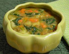 Sopa de Lentilhas com Espinafre