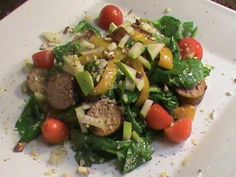 Summertime Turkey Sausage Salad Recipe | FaveHealthyRecipes.com