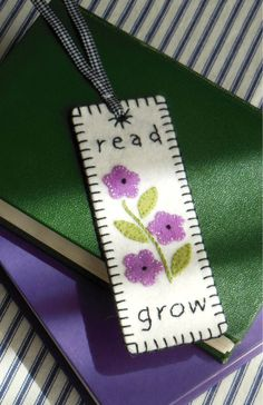 Good Book -- wool felt bookmark pattern by Black Mountain Needleworks