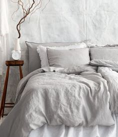 have started making our beds with  these & just want more .. | hm home 100% linen