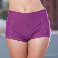 Foldover Boy Shorts in Grape #popina
