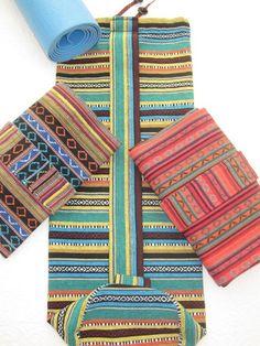 YOGA mat bags  beautiful / heavy duty Indonesian by NannaBonkers, $45.00