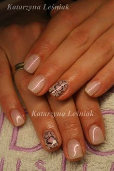 by Kasia Leśniak, Double Tap if you like #mani #nailart #nails #nude Find more Inspiration at www.indigo-nails.com