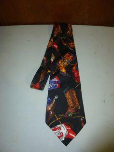 Mens Vintage Cowboy Boot Boots Silk Tie Necktie by BathoryZ