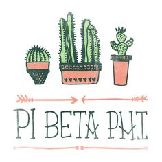 Pi Beta Phi Boho Cactus Design  by College Hill Custom Threads sorority and fraternity greek apparel and products! Customize this design for your chapter today.
