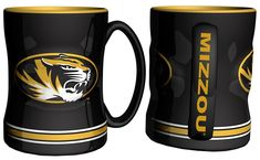 Missouri Tigers Coffee Mug 14oz Sculpted Relief Special Order