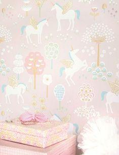 parati carta bambini bimbi unicorn unicorns true wallpaperfromthe70s rooms condividi
